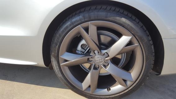 "The lovely restored 19"" Y Spoke wheels plus new brakes"